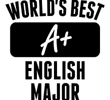 World's Best English Major by GiftIdea