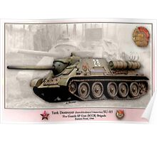 Soviet Tank Destroyer SU- 85 Poster