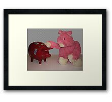 Ping Pig is confused....... Framed Print