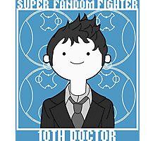 Super Fandom Fighter - 10th Doctor Photographic Print