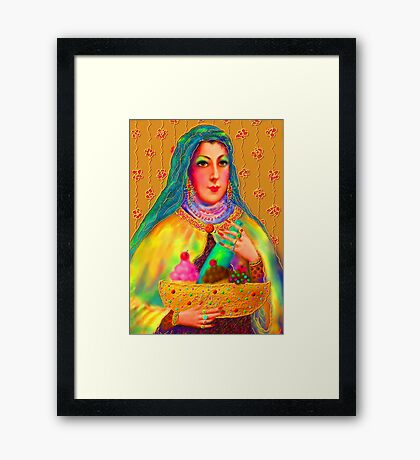 'Hollywood Mother Pelosi Passing Out Alms To The Poor' or 'Let Them Eat Cake' Framed Print