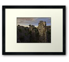 Planet Aurora: The other side- Framed Print