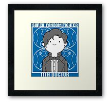 Super Fandom Fighter - 11th Doctor Framed Print