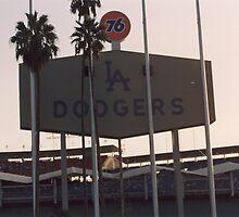 Dodger Stadium - Dusk by DamienGarth