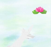 Origami Garden Series - Lonely white fish by imagerially