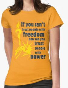 Freedom & Power Womens Fitted T-Shirt
