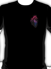 Bisexual Pride Heart (with Black detail) T-Shirt
