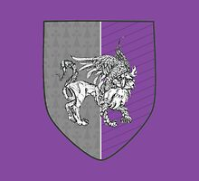 """Passant Guardant"" -- Fierce Gray Griffin Coat of Arms by Muninn"