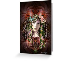 Lady Spring Goddess Greeting Card