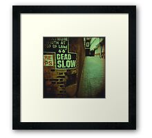 Dead End Actually Framed Print
