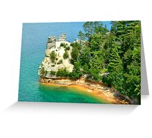 """Pictured Rocks """"Miners Castle Greeting Card"""