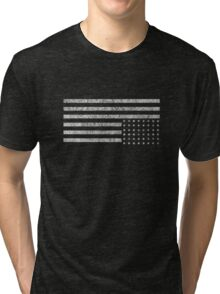 Upside-down US Flag Tri-blend T-Shirt