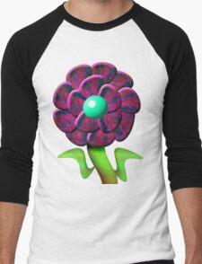 Flower Red Men's Baseball ¾ T-Shirt