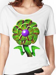 Flower Green Women's Relaxed Fit T-Shirt