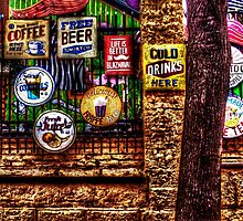 Old Colored Restaurant Fine Art Print by stockfineart