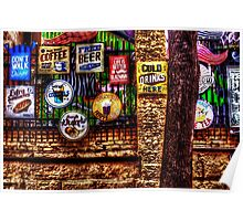 Old Colored Restaurant Fine Art Print Poster