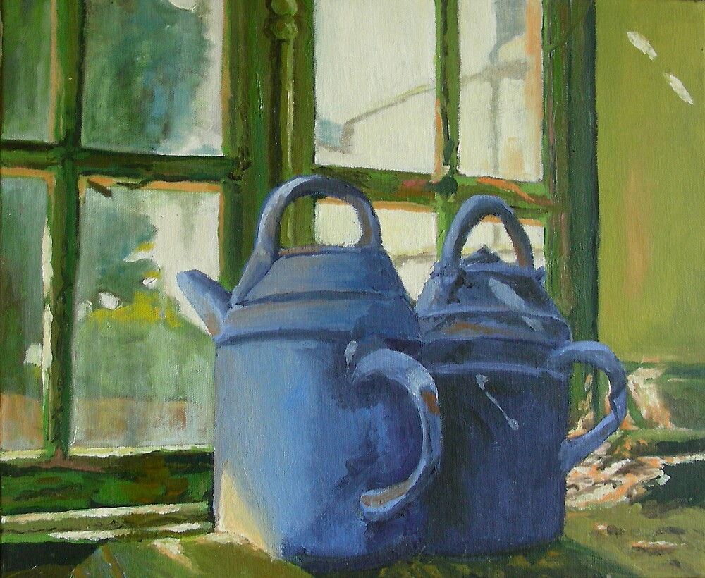 Chateau St. Loup, France potter's shed  by Phyllis Dixon