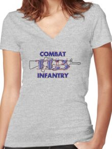 11Bravo - Combat Infantry Women's Fitted V-Neck T-Shirt