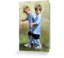 Soccer Buddies Greeting Card