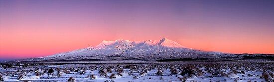 Mount Ruapehu panoramic 1 by Paul Mercer