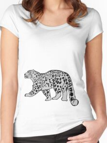 Snow Leopard Women's Fitted Scoop T-Shirt