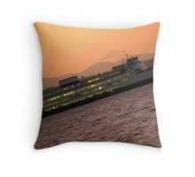 A Sunset Ferry Ride Throw Pillow