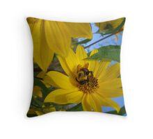 Busy as a Bumble Bee Throw Pillow