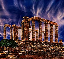 Temple Of Poseidon Greek Ruins Fine Art Print by stockfineart