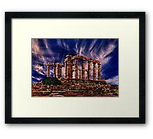Temple Of Poseidon Greek Ruins Fine Art Print Framed Print