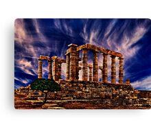 Temple Of Poseidon Greek Ruins Fine Art Print Canvas Print