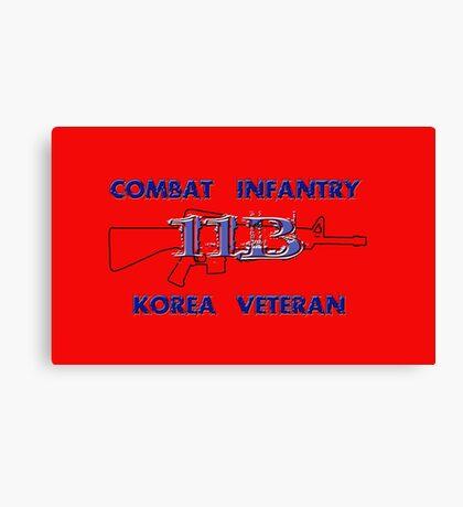 11Bravo - Combat Infantry - Korea Veteran Canvas Print