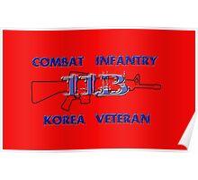 11Bravo - Combat Infantry - Korea Veteran Poster
