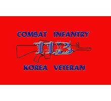 11Bravo - Combat Infantry - Korea Veteran Photographic Print