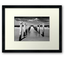 St Clair Beach in monochrome Framed Print