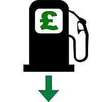 Petrol Prices Fall in the UK Photographic Print