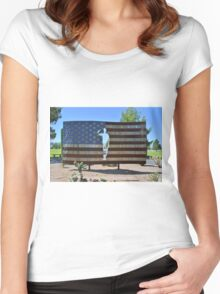 U.S. Flag Women's Fitted Scoop T-Shirt