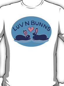 Hippity Hop - Dark Blue Bunny Design T-Shirt