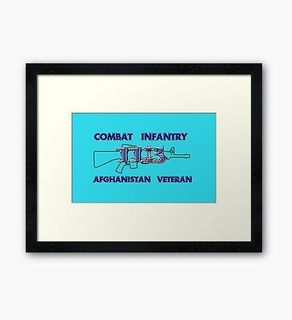 11Bravo - Combat Infantry - Afghanistan Veteran Framed Print