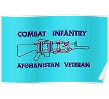 11Bravo - Combat Infantry - Afghanistan Veteran Poster