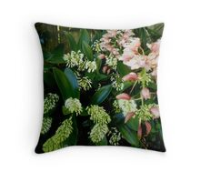 fontaine orchid Throw Pillow