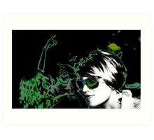 Green dream disco Art Print