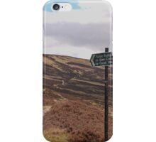 Path from Loch Muick to Glen Clova. iPhone Case/Skin