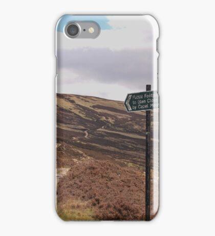 Path from Loch Muick to Glen Clova. iPhone Case/Skin