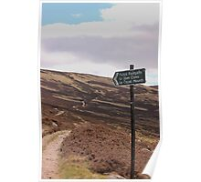 Path from Loch Muick to Glen Clova. Poster