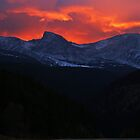 Fire Over The Rockies by Bryce Bradford
