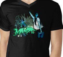Dino disco Mens V-Neck T-Shirt