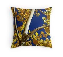Golden Aspen Throw Pillow