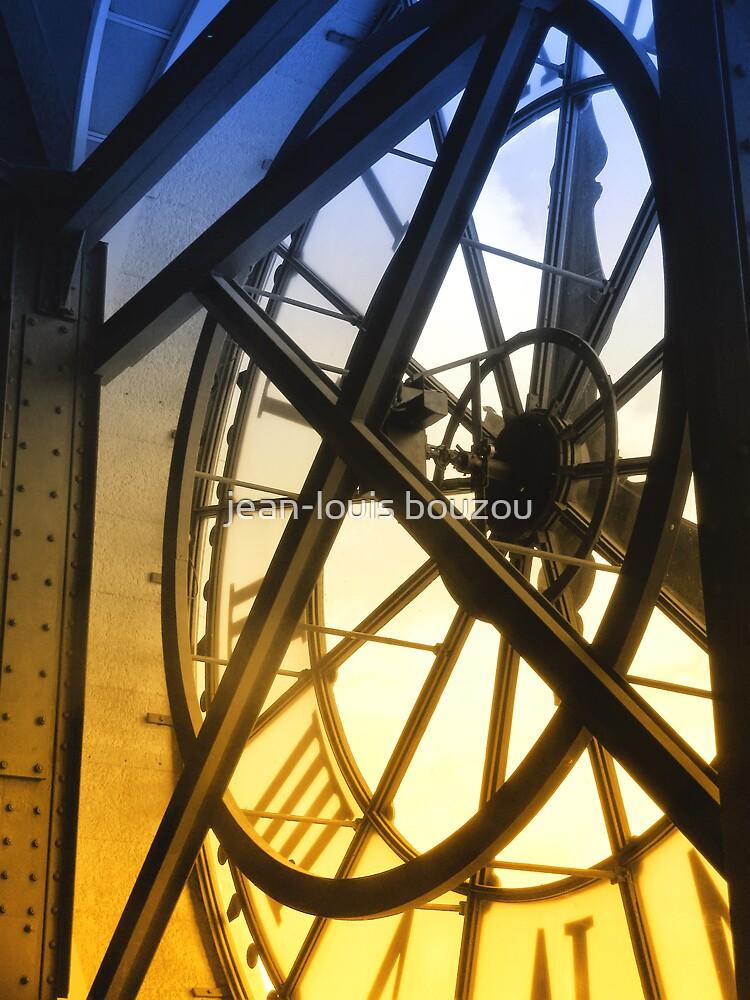 Paris - Behind The Orsay Museum Clock by jean-louis bouzou