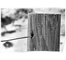 Beach Fence Post Poster