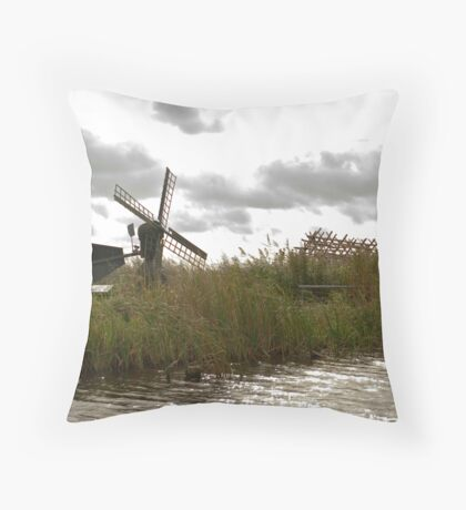 Wind and water mill  Throw Pillow
